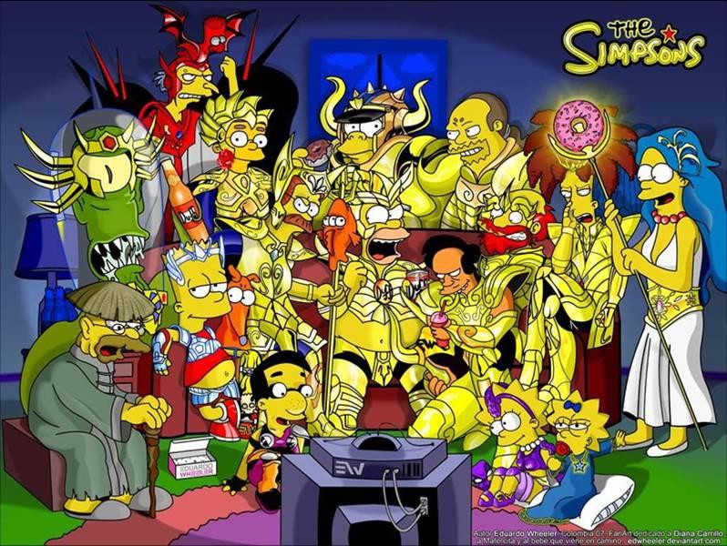 DBZ, Naruto y Saint Seiya según los Simpson… | ZZ Xpress