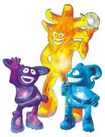 Ato, Kaz y Nik, the Spheriks