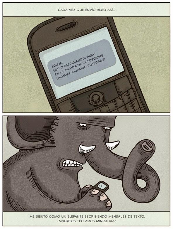Elefante texteando copy